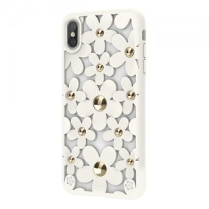 3D чехол Switcheasy Fleur белый для iPhone XS Max