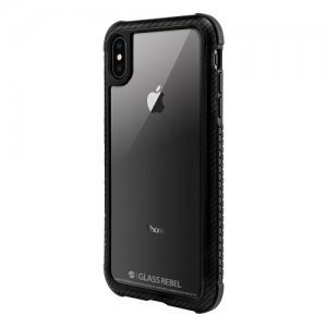 Стеклянный чехол Switcheasy Glass Rebel Carbon чёрный для iPhone XS Max