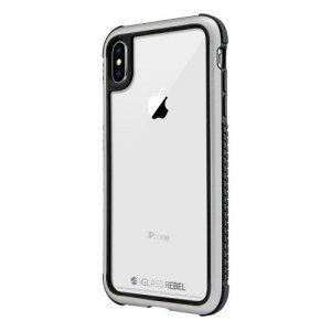 Стеклянный чехол Switcheasy Glass Rebel серебристый для iPhone XS Max