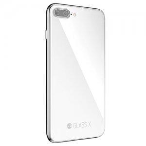 Стеклянный чехол SwitchEasy Glass X белый для iPhone 7 Plus/8 Plus