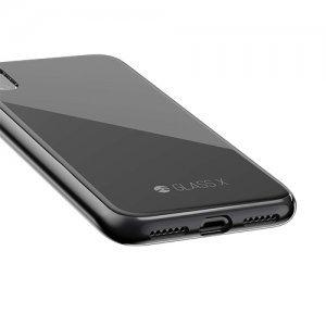 Стеклянный чехол Switcheasy Glass X черный для iPhone X/XS