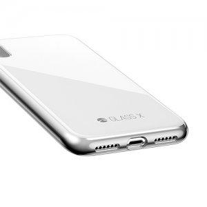 Стеклянный чехол Switcheasy Glass X белый для iPhone X/XS