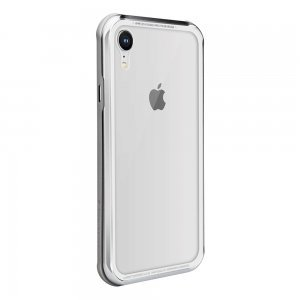 Стеклянный чехол Switcheasy iGlass серебристый для iPhone XR