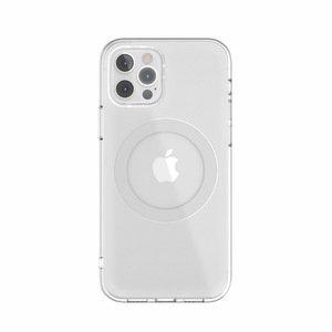 Чехол с поддержкой MagSafe Switcheasy MagClear серебристый для iPhone 12/12 Pro