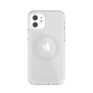 Чехол с поддержкой MagSafe Switcheasy MagClear серебристый для iPhone 12 mini