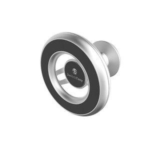 Автомобильный держатель Switcheasy MagMount (клейкая основа 3M) серебристый для iPhone 12/12 Pro/12 mini/12 Pro Max