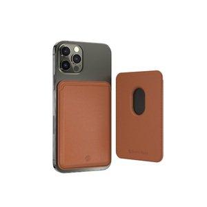 Магнитный карман-кошелек Switcheasy MagWallet для iPhone 12/12 Pro/12 Pro Max коричневый (GS-103-168-229-146)