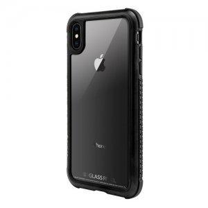 Стеклянный чехол Switcheasy Glass Rebel чёрный для iPhone XS Max