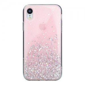 Блестящий чехол Switcheasy Starfield розовый для iPhone XR