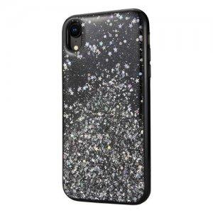 Блестящий чехол Switcheasy Starfield чёрный для iPhone XR