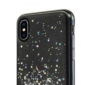 Блестящий чехол Switcheasy Starfield черный для iPhone XS Max