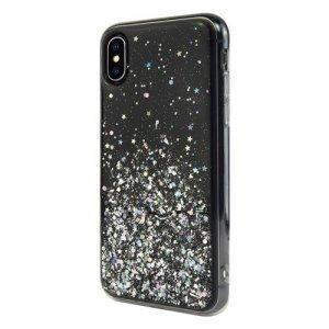 Блестящий чехол Switcheasy Starfield черный для iPhone X/XS