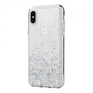 Блестящий чехол Switcheasy Starfield прозрачный для iPhone X/XS