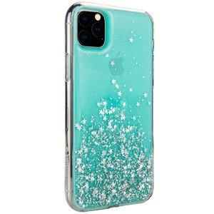 Чехол с блестками SwitchEasy Starfield голубой для iPhone 11 Pro Max