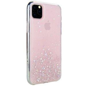 Чехол с блестками SwitchEasy Starfield розовый для iPhone 11 Pro Max