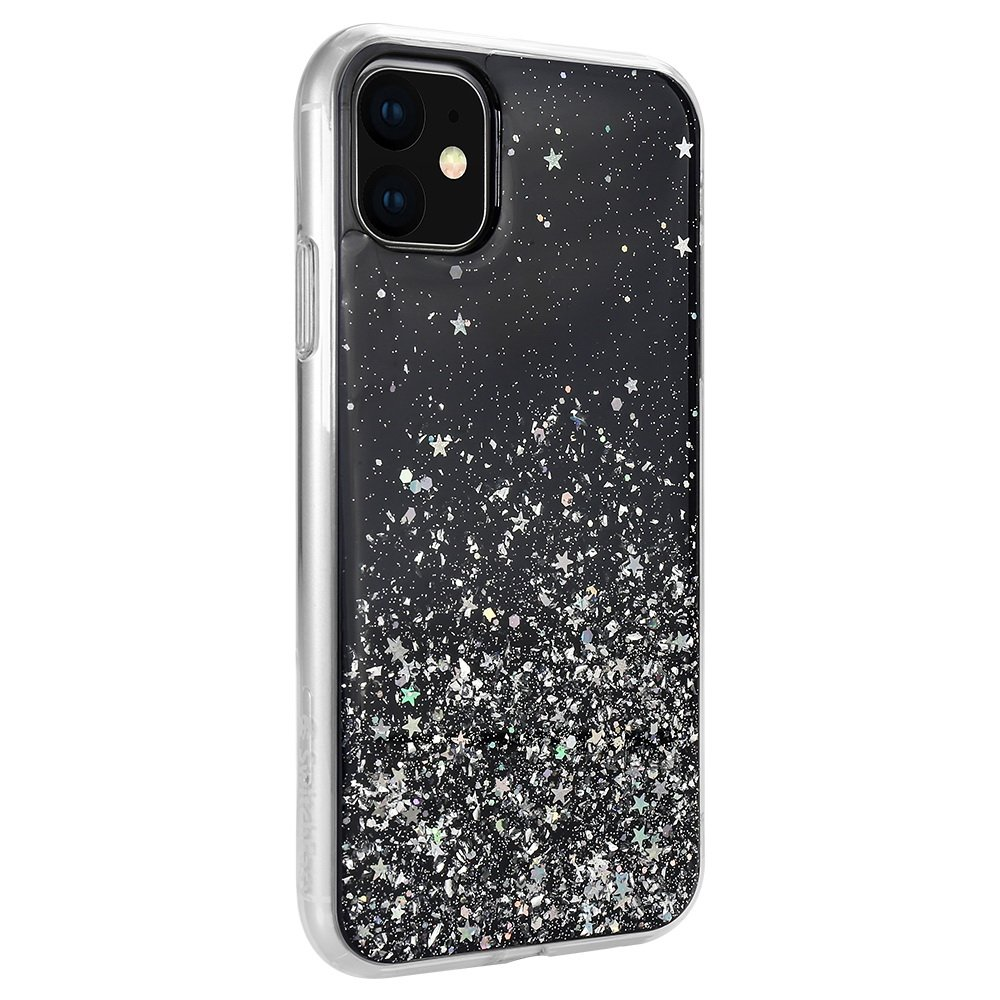 Чехол с блестками SwitchEasy Starfield чёрный для iPhone 11