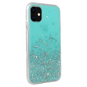 Чехол с блестками SwitchEasy Starfield голубой для iPhone 11