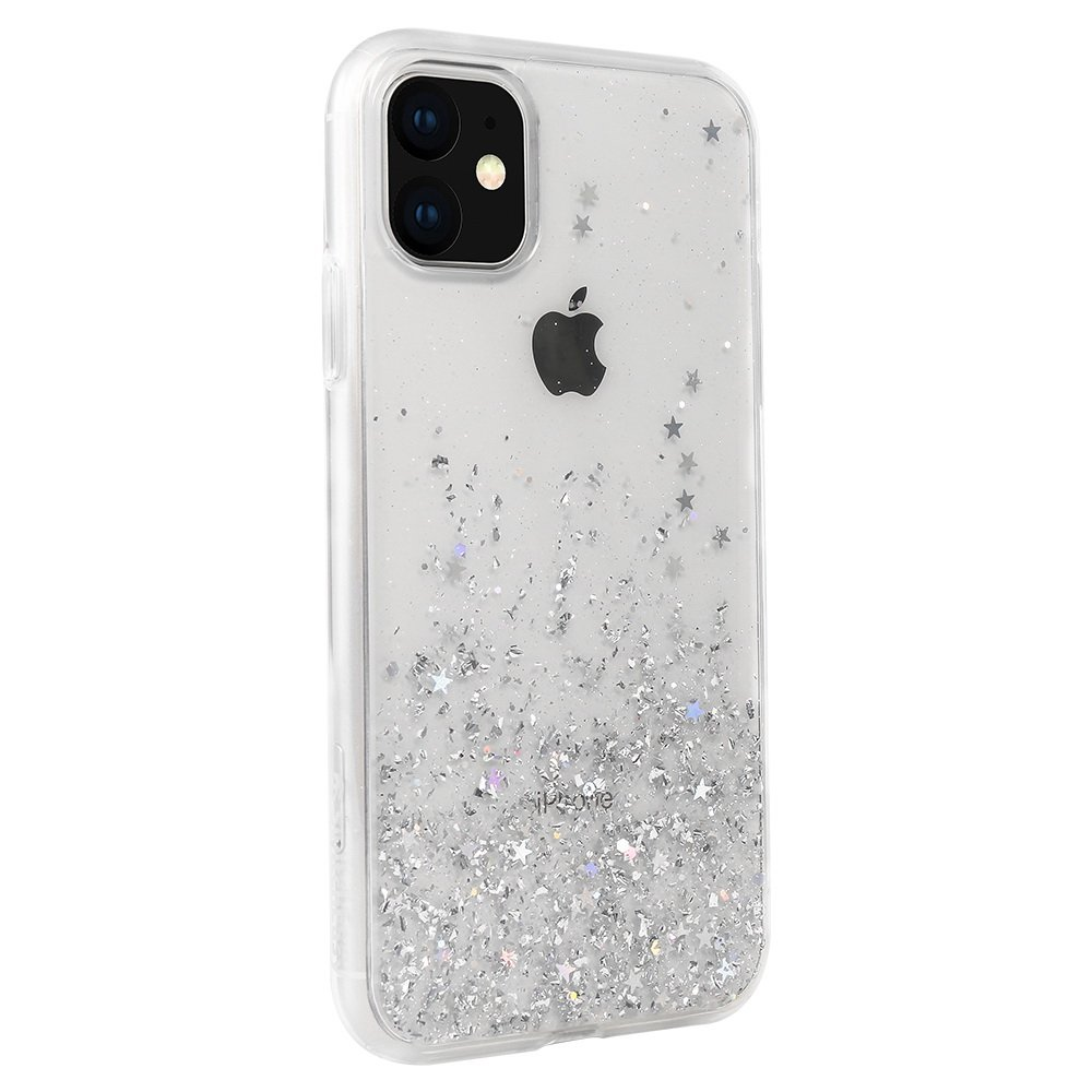 Чехол с блестками SwitchEasy Starfield прозрачный для iPhone 11