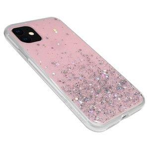 Чехол с блестками SwitchEasy Starfield розовый для iPhone 11