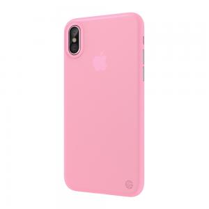 Полупрозрачный чехол SwitchEasy UltraSlim Protection розовый для iPhone X/XS