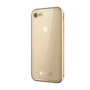 Стеклянный чехол SwitchEasy Glass прозрачный + золотой для iPhone 8/7/SE 2020