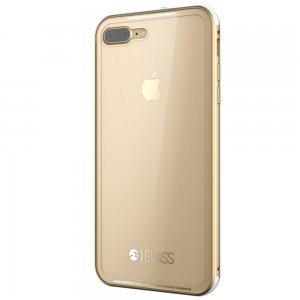 Стеклянный чехол SwitchEasy Glass прозрачный + золотой для iPhone 8 Plus/7 Plus