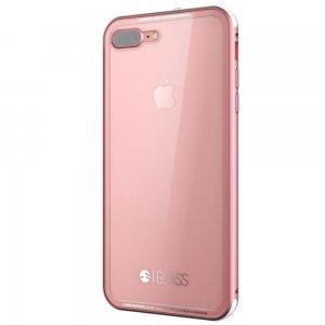 Стеклянный чехол SwitchEasy Glass прозрачный + розовый для iPhone 7 Plus