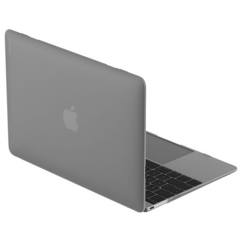 """Полупрозачный чехол SwitchEasy Nude черный для Macbook 12"""""""