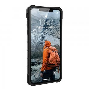 Противоударный полупрозрачный чехол UAG Plasma серый для iPhone XS Max