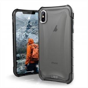 Противоударный полупрозрачный чехол UAG Plyo серый для iPhone XS Max