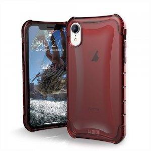 Противоударный полупрозрачный чехол UAG Plyo красный для iPhone XR