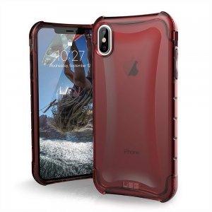 Противоударный полупрозрачный чехол UAG Plyo красный для iPhone XS Max