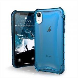 Противоударный полупрозрачный чехол UAG Plyo синий для iPhone XR
