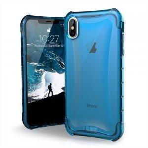 Противоударный полупрозрачный чехол UAG Plyo синий для iPhone XS Max