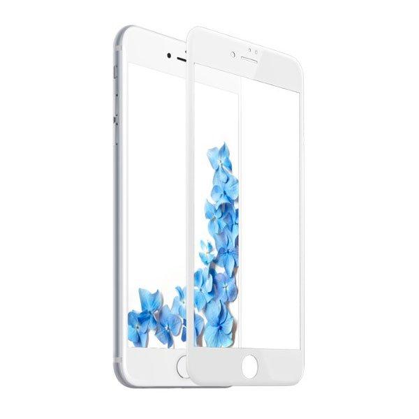 Защитное стекло Baseus 0.2mm Silk-screen глянцевое, белое для iPhone 8 Plus