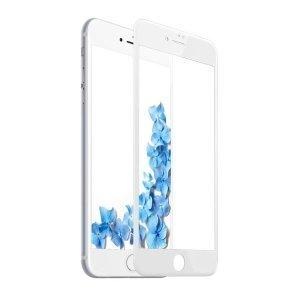 Защитное стекло Baseus 0.2mm Silk-screen глянцевое, белое для iPhone 8