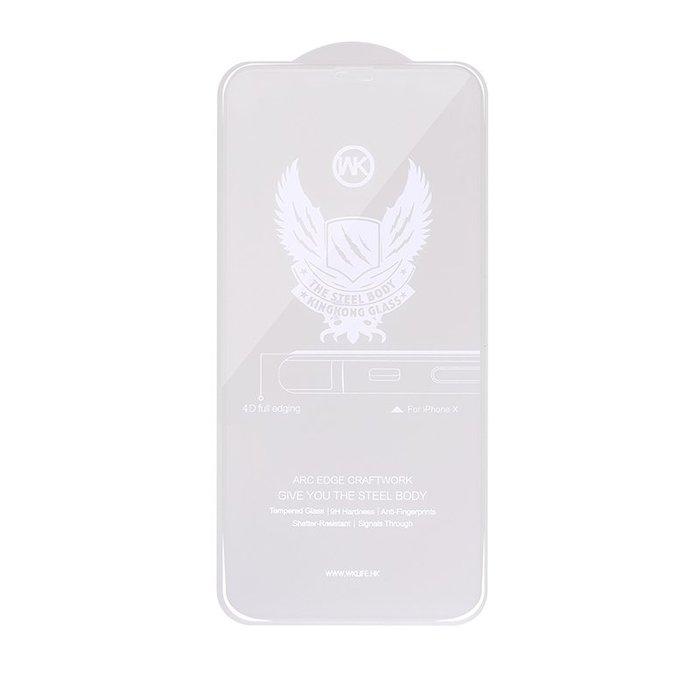 Защитное стекло WK Kingkong 4D Curved белое для iPhone X/XS/11 Pro