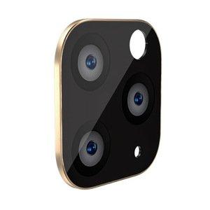 Защитное стекло на камеру WK Design Metal Version золотое для iPhone 11