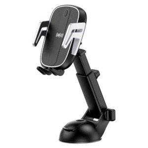 Автомобильное беспроводное ЗУ и держатель WK Design Car Holder with Wireless Car Charger черное