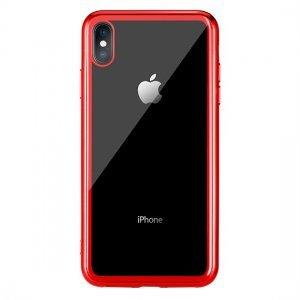 Прозрачный чехол Remax Crysden с красной рамкой для iPhone X/XS