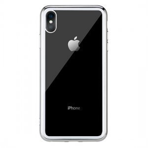 Прозрачный чехол Remax Crysden с серебристой рамкой для iPhone X/XS
