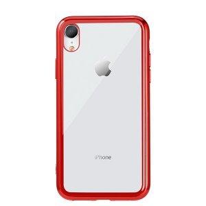Прозранчый чехол Remax Crysden с красной рамкой для iPhone XR