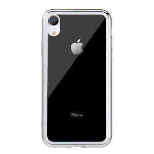 Прозрачный чехол Remax Crysden с серебристой рамкой для iPhone XR