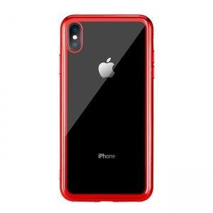 Прозранчый чехол Remax Crysden с красной рамкой для iPhone XS Max
