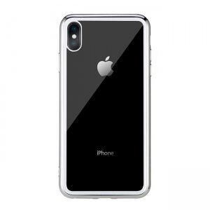 Прозранчый чехол Remax Crysden с серебристой рамкой для iPhone XS Max