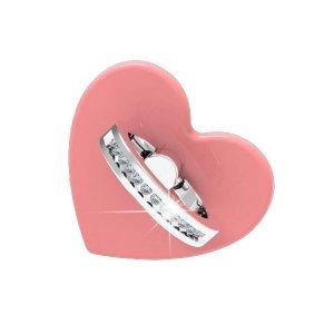 Держатель-кольцо для смартфона WK Design Heart розовый