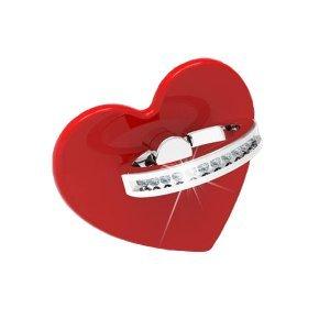 Держатель-кольцо для смартфона WK Design Heart красный