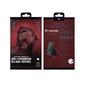 Защитное стекло WK Design Kingkong 4D Curved Tempered Glass Privacy (антишпион) черное для iPhone 7/8