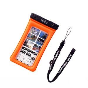 Водонепроницаемый чехол WK Design Ledive Waterproof Bag (WT-Q01) универсальный оранжевый