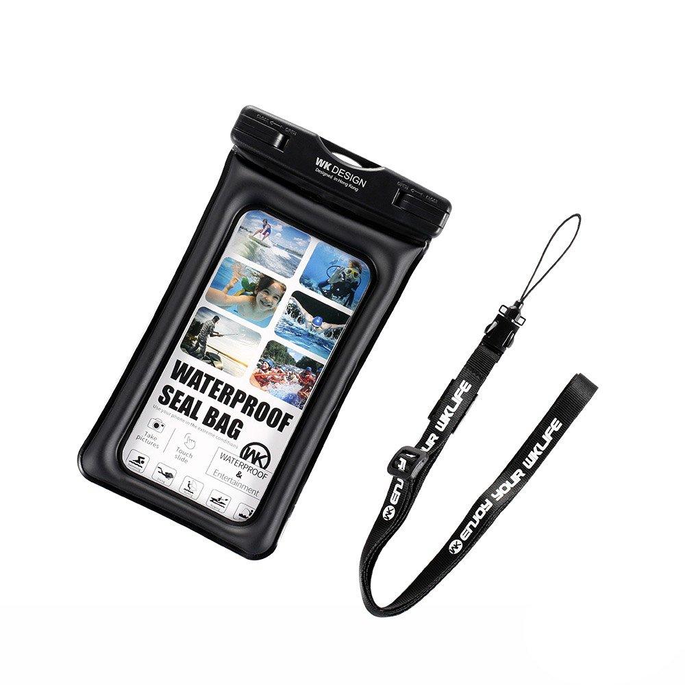 Водонепроницаемый чехол WK Design Ledive Waterproof Bag (WT-Q01) универсальный черный